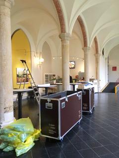 Fotomaterial »Die Wanderausstellung ›Unterwegs mit Felix Nussbaum‹ wird aufgebaut in Haarlem.«, 27.2.2020, © Heiko Schlatermund