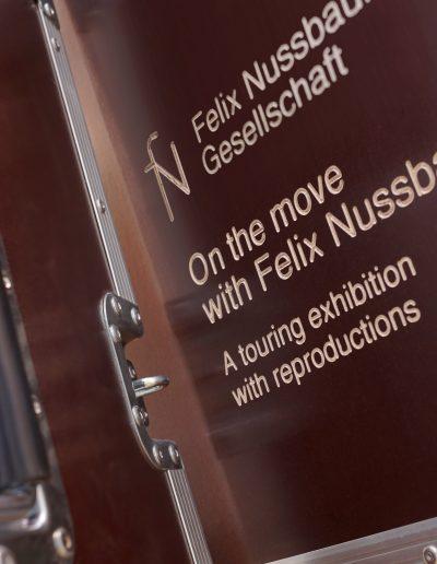 »Die Wanderausstellung ›Unterwegs mit Felix Nussbaum‹ wird verpackt.«, 23.2.2020, © sec
