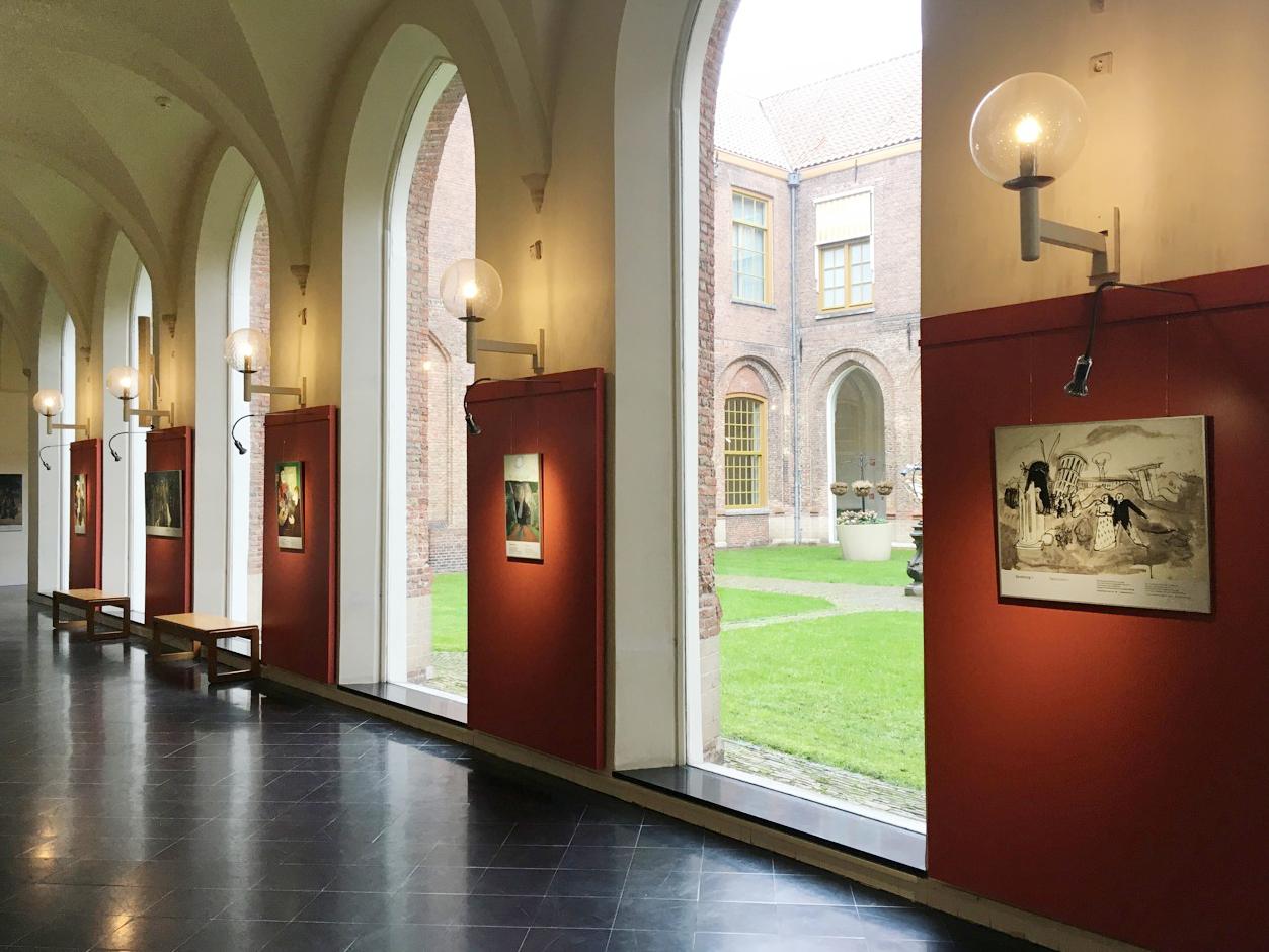 Aufbau Ausstellung Rathaus in Haarlem, NL