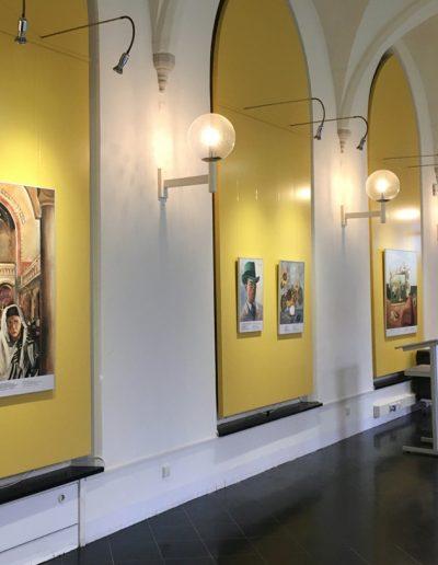Fotomaterial »Die Wanderausstellung ›Unterwegs mit Felix Nussbaum‹ ist eingerichtet in Haarlem.«, 27.2.2020, © Heiko Schlatermund