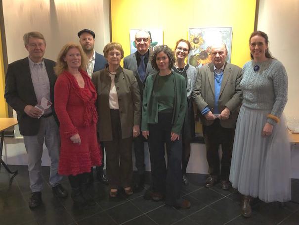 Eine Delegation mit Förderern, Repräsentanten und der niederländischen Städtebotschafterin aus Osnabrück mit Ellen Wolff