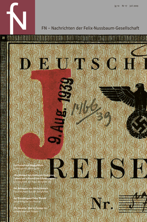 Cover fN-Nachrichten Jg10 Nr17 Juli 2009