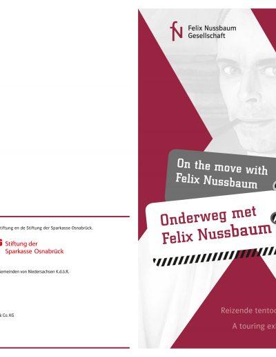Plakat A1 und Einladung A5 »Die Wanderausstellung ›Unterwegs mit Felix Nussbaum‹ in Haarlem«, Deutsch – Niederlande